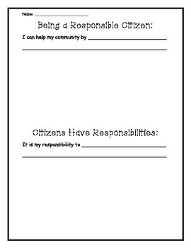 Being a Responsible Citizen