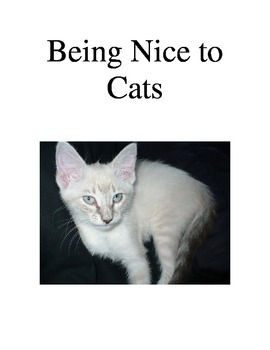 Being nice to cats Social story