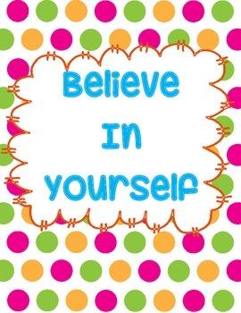 Believe in Yourself Printable
