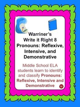 Pronouns--Reflexive, Intensive, Demonstrative: Warriner's