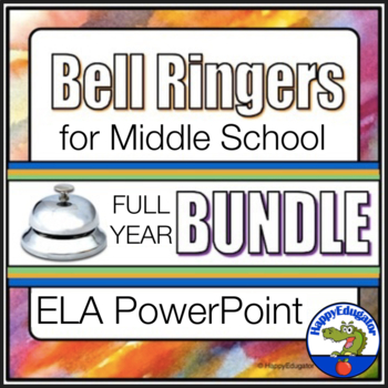 Bell Ringers Bundle - Full Year - Common Core ELA