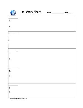 Bell Work 10-Day Template