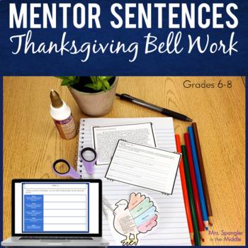 Bell Work / Bell Ringers:  Text-based Thanksgiving Mentor