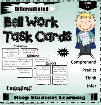 Bell Work Task Cards