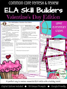 Valentine's Day Bell Work: ELA Skill Building {Common Core