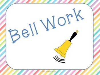 Bell Work for Upper Grades
