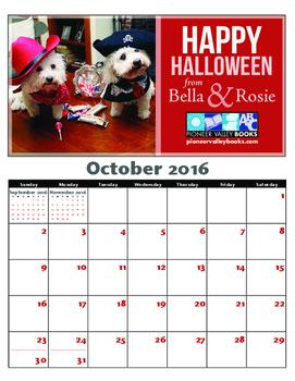 Bella and Rosie FREE October Calendar
