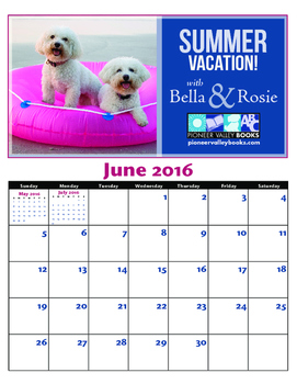 Bella and Rosie June Calendar