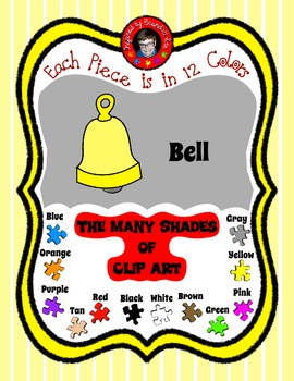Bells in 12 Colors - Great for Color sorting, Making Games