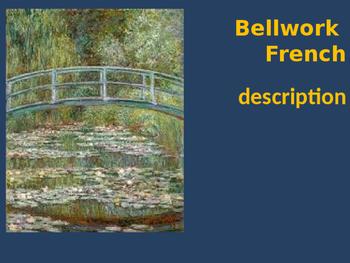 Bellwork French vocabulary description