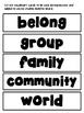 Grade 1 Alberta Social Studies Belonging in My World