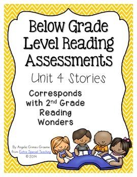 Below Grade Level Assessments for Reading Wonders Grade 2