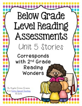Below Grade Level Assessments for Reading Wonders Grade 2