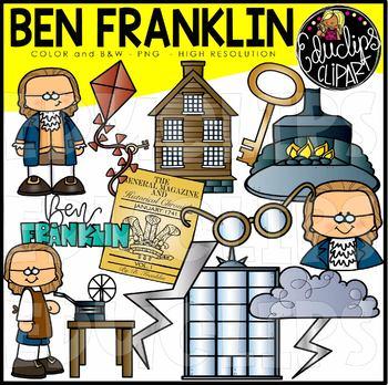 Ben Franklin Clip Art Bundle {Educlips Clipart}