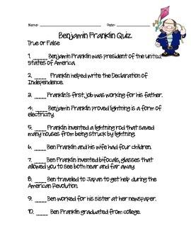 Ben Franklin Quiz