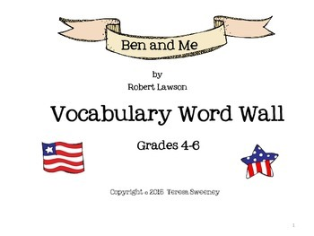 Ben and Me Vocabulary Word Wall