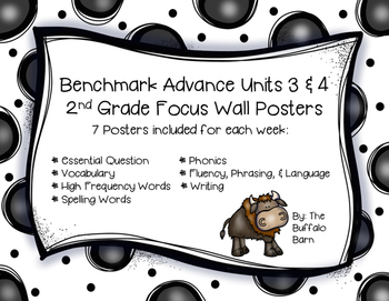 Benchmark Advance 2nd Grade Focus Wall Posters UNITS 3 & 4