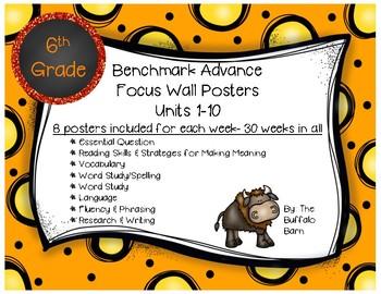 Benchmark Advance 6th (SIXTH) Grade Focus Wall Posters UNI