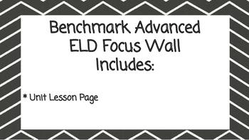 Benchmark Advanced Second Grade ELD Focus Wall Unit 10 (Le