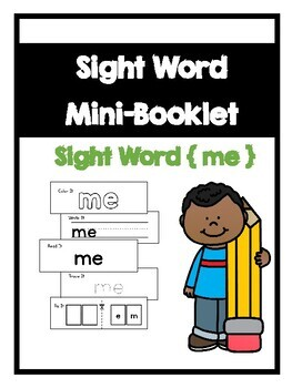 Benchmark Aligned Kindergarten Sight Word Mini-Booklet {Si