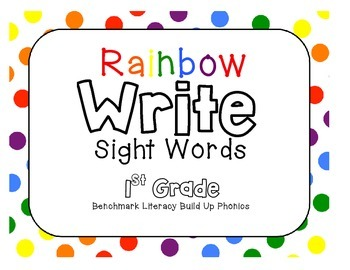 Benchmark Literacy Build Up Phonics Rainbow Write Sight Words