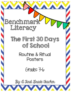 Benchmark Literacy First 30 Days Grades 3-6 Anchor Charts