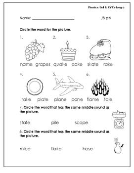 Benchmark Literacy First Grade Phonics Worksheets