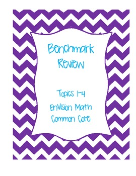 Benchmark Review Topics 1-4 for Pearson EnVision Math Grade 2