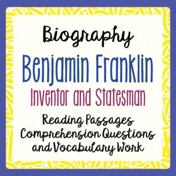 Benjamin Franklin Biography Informational Texts Activities
