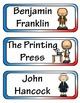 Benjamin Franklin Mini Research Fold-Ems, Word Wall, & Wri