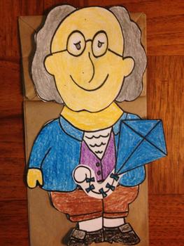 Benjamin Franklin Paper Bag Puppet
