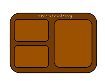 """""""Bento Box Your Story"""" Learning the Parts of a Story/Narra"""