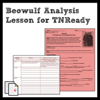 Beowulf: Analysis of Theme, Structure, & Language for TNReady