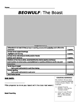 Beowulf Boast Poem