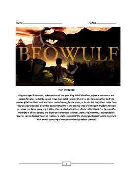 Beowulf: Full Lesson Plan/Summary/Common Core Questions/Es