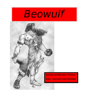 Beowulf ~ Hero Traits and Literary Techniques Worksheets (