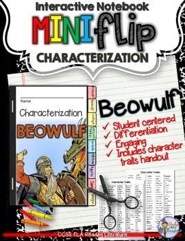 BEOWULF: INTERACTIVE NOTEBOOK CHARACTERIZATION MINI FLIP