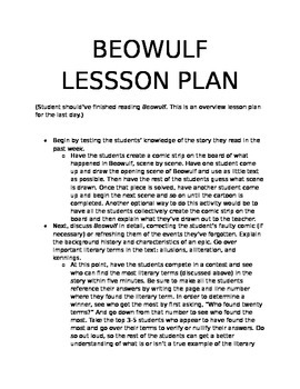 Beowulf Lesson Plan