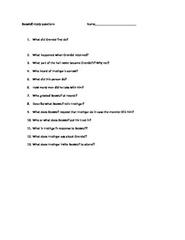 Beowulf study questions