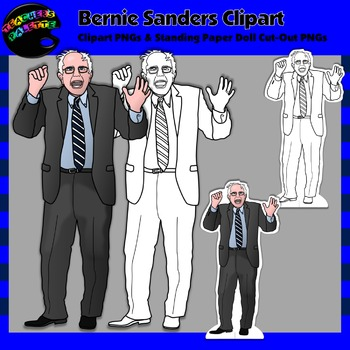 Bernie Sanders Clipart and Paper Dolls