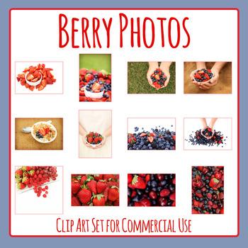 Berry Fruit Photo / Photograph Clip Art Set for Commercial Use