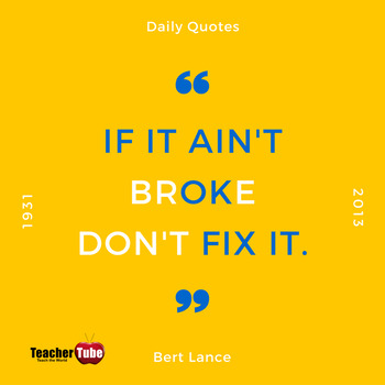Bert Lance Quote for Classroom