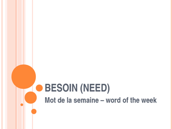 Besoin (need) - modifiable PowerPoint presentation