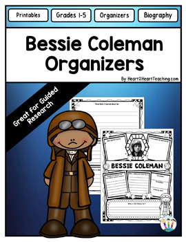 Bessie Coleman Organizers for Guided Research: Perfect for