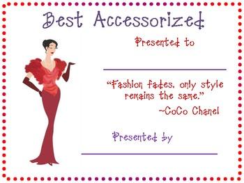 Best Accessorized Award