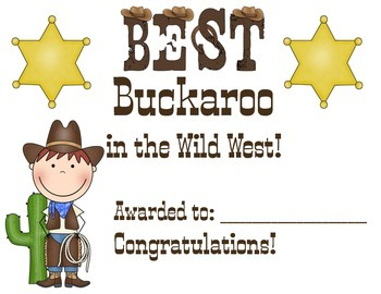 Best Buckaroo Award for boys