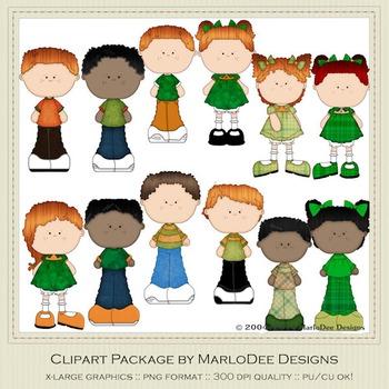 Best Buds Friends Children Irish Colors Clip Art Graphics