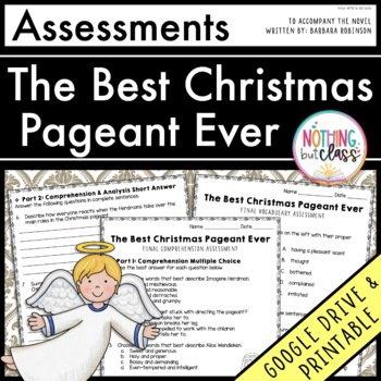The Best Christmas Pageant Ever: Tests, Quizzes, Assessments