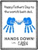"Best Father ""Hands Down"" FREE Printable"
