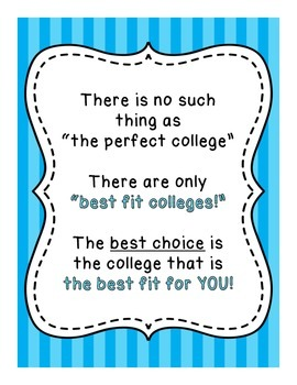 Best Fit College / Choosing A College School Counseling Po